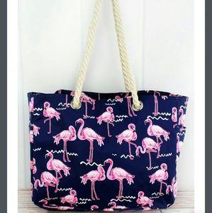 Handbags - New Large Flamingo Tote Bag!